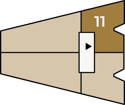 Verdiepingsoverzicht bouwnummer 11