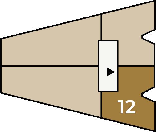 Verdiepingsoverzicht bouwnummer 12