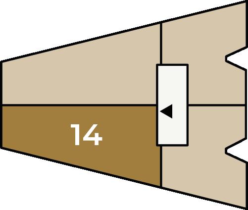 Verdiepingsoverzicht bouwnummer 14