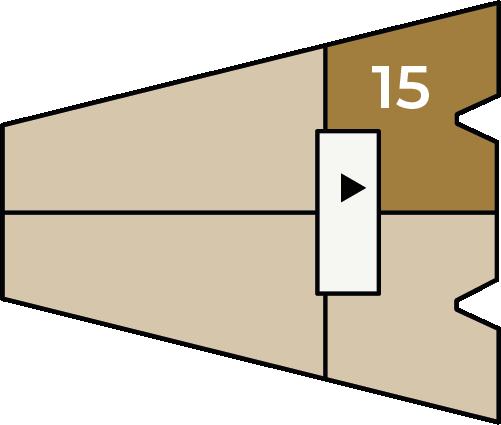 Verdiepingsoverzicht bouwnummer 15