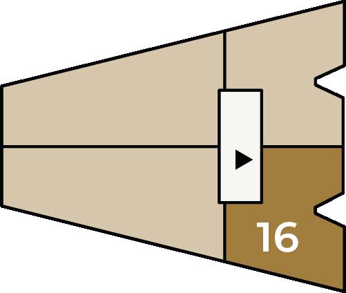 Verdiepingsoverzicht bouwnummer 16