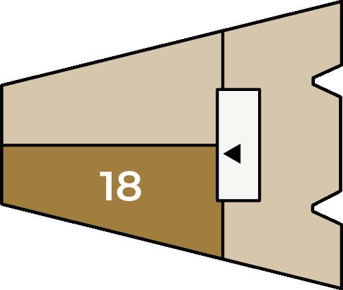 Verdiepingsoverzicht bouwnummer 18