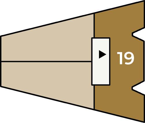 Verdiepingsoverzicht bouwnummer 19