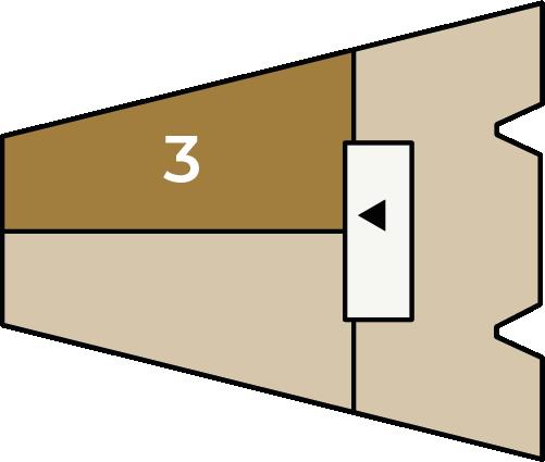 Verdiepingsoverzicht bouwnummer 3