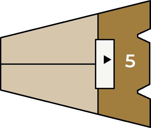 Verdiepingsoverzicht bouwnummer 5