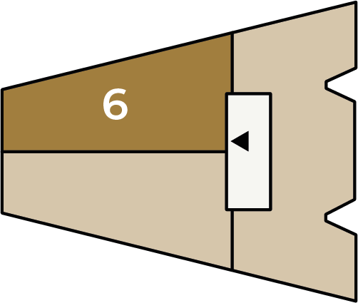 Verdiepingsoverzicht bouwnummer 6