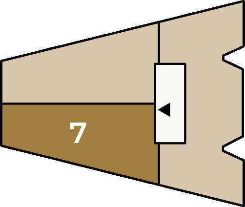 Verdiepingsoverzicht bouwnummer 7