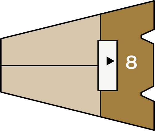 Verdiepingsoverzicht bouwnummer 8